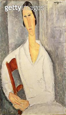 <b>Title</b> : Woman in White (oil on canvas)<br><b>Medium</b> : <br><b>Location</b> : The Barnes Foundation, Merion, Pennsylvania, USA<br> - gettyimageskorea