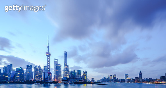 Shanghai at sunset - gettyimageskorea