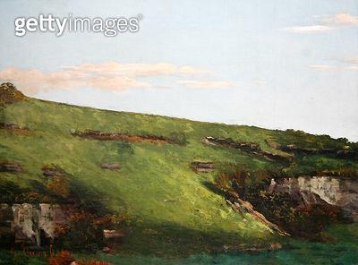 <b>Title</b> : Wiesenhang near Ornans, 1862 (oil on canvas)Additional InfoWiesenhang bei Ornans;<br><b>Medium</b> : oil on canvas<br><b>Location</b> : Neue Galerie, Kassel, Germany<br> - gettyimageskorea
