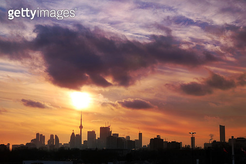 Toronto On Point of A Marvelous Sunset - gettyimageskorea