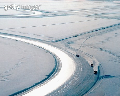 Traffic Accident Research on a Frozen Lake - gettyimageskorea