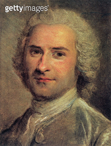 <b>Title</b> : Portrait of Jean Jacques Rousseau, 1712-78 (print)<br><b>Medium</b> : <br><b>Location</b> : Private Collection<br> - gettyimageskorea