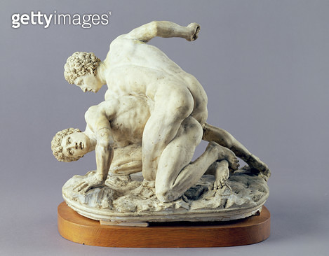 <b>Title</b> : Wrestlers, 1775 (terracotta)Additional InfoCanova won 2nd prize at Accademia competition;<br><b>Medium</b> : terracotta<br><b>Location</b> : Galleria dell' Accademia, Venice, Italy<br> - gettyimageskorea