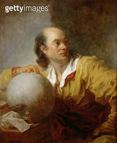<b>Title</b> : Joseph-Jerome Lefrancois Lalande (1732-1807) (oil on canvas)<br><b>Medium</b> : oil on canvas<br><b>Location</b> : Musee de la Ville de Paris, Musee du Petit-Palais, France<br> - gettyimageskorea