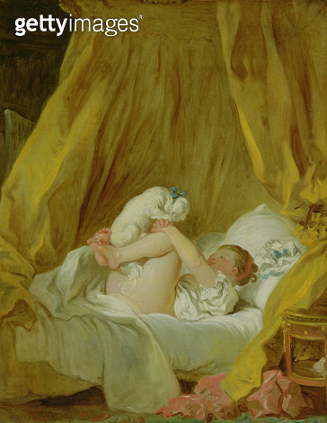 <b>Title</b> : 'La Gimblette', Girl with a Dog, c.1770 (oil on canvas)<br><b>Medium</b> : oil on canvas<br><b>Location</b> : Alte Pinakothek, Munich, Germany<br> - gettyimageskorea