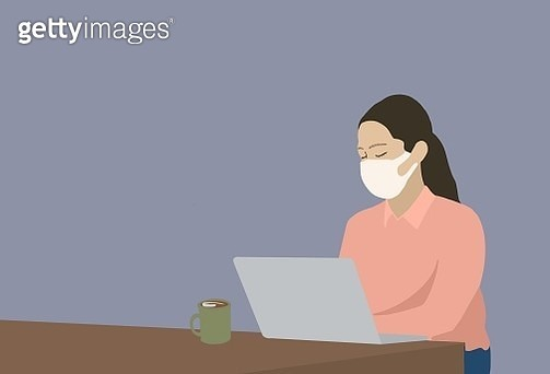virus, coronavirus, face mask, mask, winter virus, sick, fever, women, business women, man - gettyimageskorea