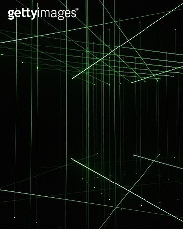 Full Frame Shot Of Green Laser Light - gettyimageskorea