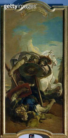 <b>Title</b> : Death of the Consul Lucius Junius Brutus in a duel with Aruns<br><b>Medium</b> : <br><b>Location</b> : Kunsthistorisches Museum, Vienna, Austria<br> - gettyimageskorea