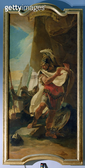 <b>Title</b> : Hannibal with the Head of his brother Hasdrubal, 1728-30<br><b>Medium</b> : <br><b>Location</b> : Kunsthistorisches Museum, Vienna, Austria<br> - gettyimageskorea
