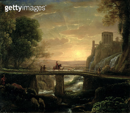 <b>Title</b> : Landscape with an Imaginary View of Tivoli, 1642 (oil on copper)<br><b>Medium</b> : oil on copper<br><b>Location</b> : Samuel Courtauld Trust, Courtauld Institute of Art Gallery<br> - gettyimageskorea