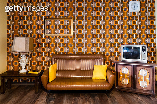 Interior of a vintage living room - gettyimageskorea