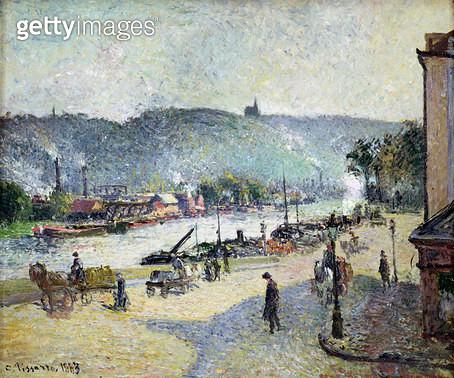 <b>Title</b> : The Quays at Rouen, 1883<br><b>Medium</b> : oil on canvas<br><b>Location</b> : Samuel Courtauld Trust, Courtauld Institute of Art Gallery<br> - gettyimageskorea