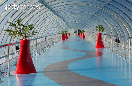 Walkway to Aspire Tower in Doha Sports city - gettyimageskorea