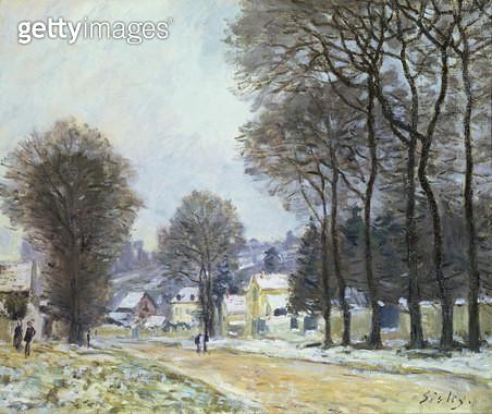 <b>Title</b> : Snow at Louveciennes, c.1874<br><b>Medium</b> : oil on canvas<br><b>Location</b> : Samuel Courtauld Trust, Courtauld Institute of Art Gallery<br> - gettyimageskorea
