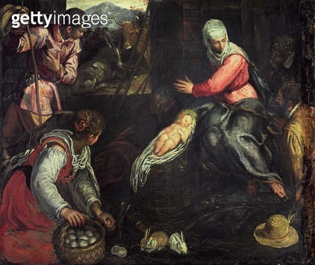 <b>Title</b> : The Adoration of the Shepherds, c.1578 (oil on canvas)<br><b>Medium</b> : oil on canvas<br><b>Location</b> : Samuel Courtauld Trust, Courtauld Institute of Art Gallery<br> - gettyimageskorea
