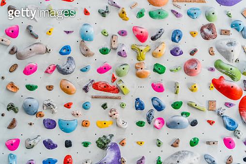 Climbing wall background. - gettyimageskorea