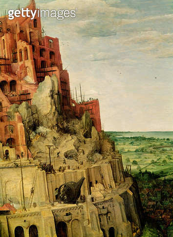 <b>Title</b> : The Tower of Babel (detail of 345)<br><b>Medium</b> : <br><b>Location</b> : Kunsthistorisches Museum, Vienna, Austria<br> - gettyimageskorea