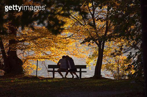 Autumn in Gmunden, Upper Austria, Austria - gettyimageskorea