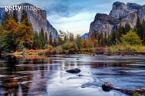 Yosemite Merced River el Capitan Panorama  - gettyimageskorea