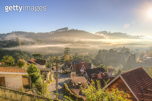 Fog Above The City - gettyimageskorea