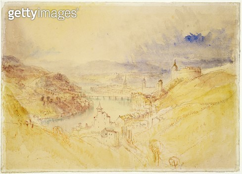 No.0583 Schaffhausen/ c.1840-44 (w/c & ink) - gettyimageskorea