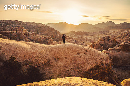Traveling through Jordan country exploring the beautiful nature destinations. - gettyimageskorea