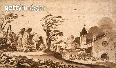 PD.1-1987 Landscape with a Funeral Procession (ink & wash) - gettyimageskorea