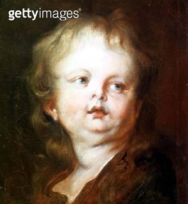 Head of a boy (oil on canvas) - gettyimageskorea
