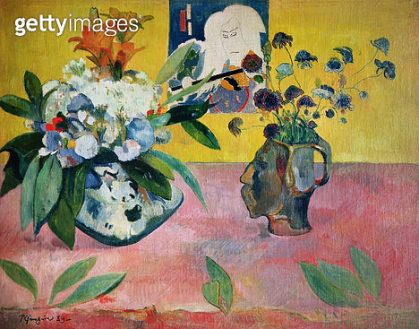 <b>Title</b> : Flowers and a Japanese Print, 1889 (oil on canvas)<br><b>Medium</b> : oil on canvas<br><b>Location</b> : Metropolitan Museum of Art, New York, USA<br> - gettyimageskorea