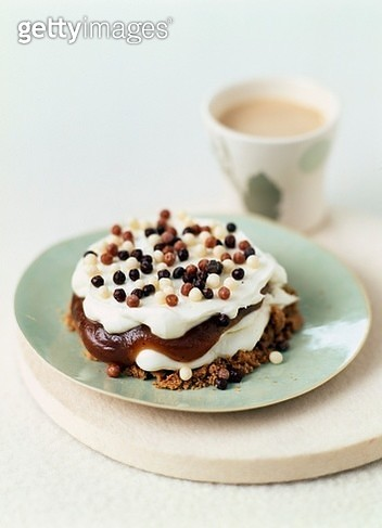 Upside down whipped cream and chestnut cream crumble - gettyimageskorea