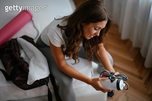 Sportswoman preparing for training - gettyimageskorea