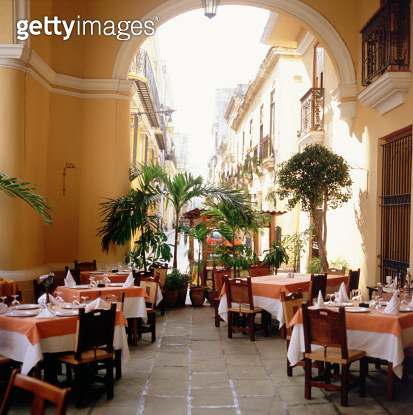"""""""Outdoor restaurant , Havana , Cuba"""" - gettyimageskorea"""