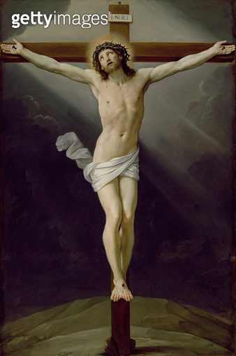 <b>Title</b> : Christ on the Cross (oil on canvas)<br><b>Medium</b> : <br><b>Location</b> : Galleria e Museo Estense, Modena, Italy<br> - gettyimageskorea