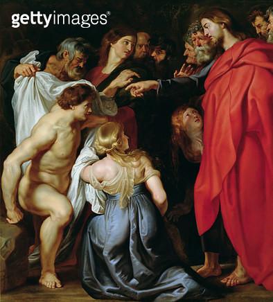 <b>Title</b> : The Resurrection of Lazarus (oil on canvas)Additional InfoLa Resurrection de Lazare; male; female; miracle; miraculous; resurrec<br><b>Medium</b> : oil on canvas<br><b>Location</b> : Galleria Sabauda, Turin, Italy<br> - gettyimageskorea