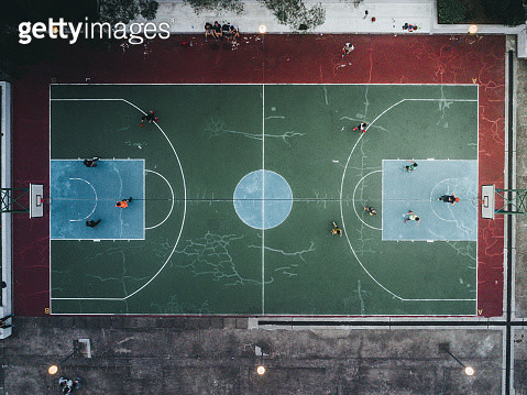 Basket ball court in Heng Fa Chuen, Hong Kong Island - gettyimageskorea