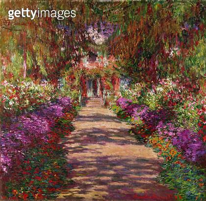 <b>Title</b> : A Pathway in Monet's Garden, Giverny, 1902<br><b>Medium</b> : oil on canvas<br><b>Location</b> : Kunsthistorisches Museum, Vienna, Austria<br> - gettyimageskorea