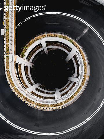 Roundabout in Kennedy Town, Sai Wan, Hong Kong - gettyimageskorea