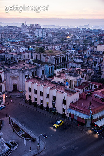 The sun rising over buildings and rooftops of Old Havana, Cuba - gettyimageskorea