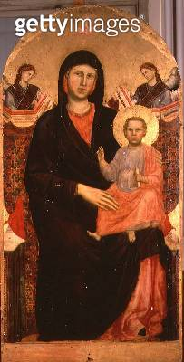 <b>Title</b> : Madonna and Child Enthroned (altarpiece) (for details see 66536-39)<br><b>Medium</b> : <br><b>Location</b> : San Giorgio alla Costa, Florence, Italy<br> - gettyimageskorea