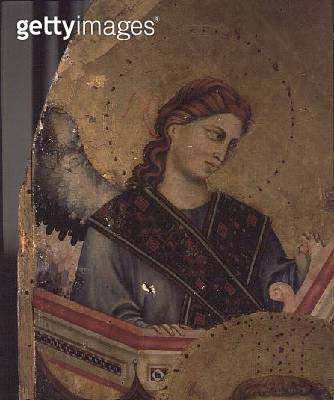 <b>Title</b> : Angel from Madonna and Child Enthroned (detail of 66535) (see also 66536 & 66537) (altarpiece)<br><b>Medium</b> : tempera on panel<br><b>Location</b> : San Giorgio alla Costa, Florence, Italy<br> - gettyimageskorea