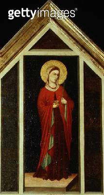 <b>Title</b> : Female saint from the St. Reparata Polyptych (reverse of far right panel)<br><b>Medium</b> : tempera on panel<br><b>Location</b> : Duomo, Florence, Italy<br> - gettyimageskorea