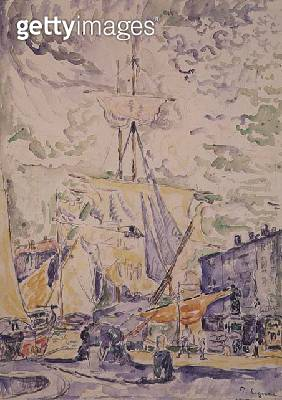 <b>Title</b> : St. Tropez, 1901 (w/c & pencil)<br><b>Medium</b> : watercolour and pencil on paper<br><b>Location</b> : Private Collection<br> - gettyimageskorea