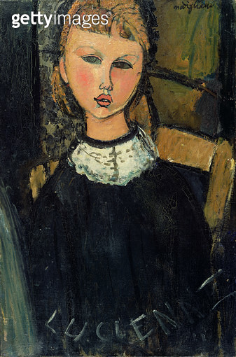 <b>Title</b> : Lucienne, c.1916-17<br><b>Medium</b> : oil on canvas<br><b>Location</b> : Private Collection<br> - gettyimageskorea