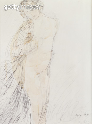 <b>Title</b> : La Cigale (w/c and pencil on joined paper laid down on paper)d<br><b>Medium</b> : watercolour and pencil on joined paper laid down on paper<br><b>Location</b> : Private Collection<br> - gettyimageskorea