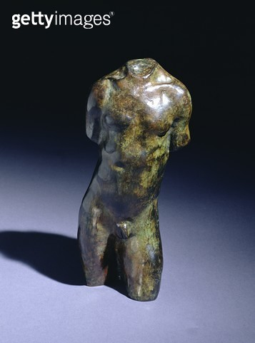 <b>Title</b> : Miniature Male Torso, Type A (bronze) (see also 166731) for rear view)Additional Infowith foundry mark Alexis Rudier Fondeur; ca<br><b>Medium</b> : bronze<br><b>Location</b> : Private Collection<br> - gettyimageskorea