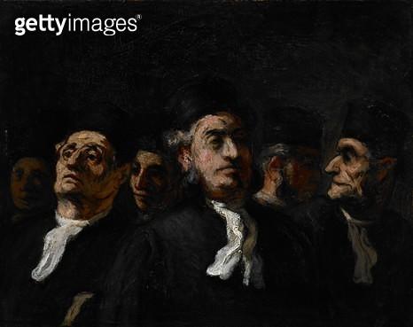 <b>Title</b> : Lawyer's Meeting, c.1860 (oil on panel)<br><b>Medium</b> : oil on panel<br><b>Location</b> : Museum of Fine Arts, Houston, Texas, USA<br> - gettyimageskorea