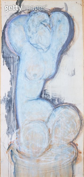 <b>Title</b> : Caryatid, c.1914 (gouache on paper, laid on canvas and panel)<br><b>Medium</b> : gouache on paper, laid on canvas and panel<br><b>Location</b> : Museum of Fine Arts, Houston, Texas, USA<br> - gettyimageskorea