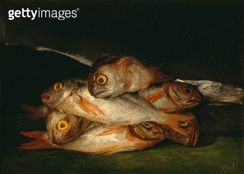 <b>Title</b> : Still Life with Golden Bream, 1808-12 (oil on canvas)<br><b>Medium</b> : oil on canvas<br><b>Location</b> : Museum of Fine Arts, Houston, Texas, USA<br> - gettyimageskorea