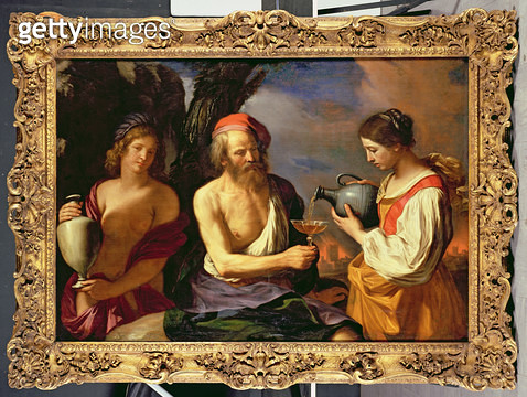 <b>Title</b> : Lot and his Daughters (oil on canvas)<br><b>Medium</b> : oil on canvas<br><b>Location</b> : Private Collection<br> - gettyimageskorea
