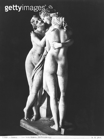 <b>Title</b> : Three Graces, 1812-16 (marble) (see also 266965 and 266967)Additional InfoLes trois graces;<br><b>Medium</b> : <br><b>Location</b> : Hermitage, St. Petersburg, Russia<br> - gettyimageskorea